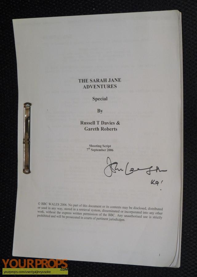 The Sarah Jane Adventures original production material