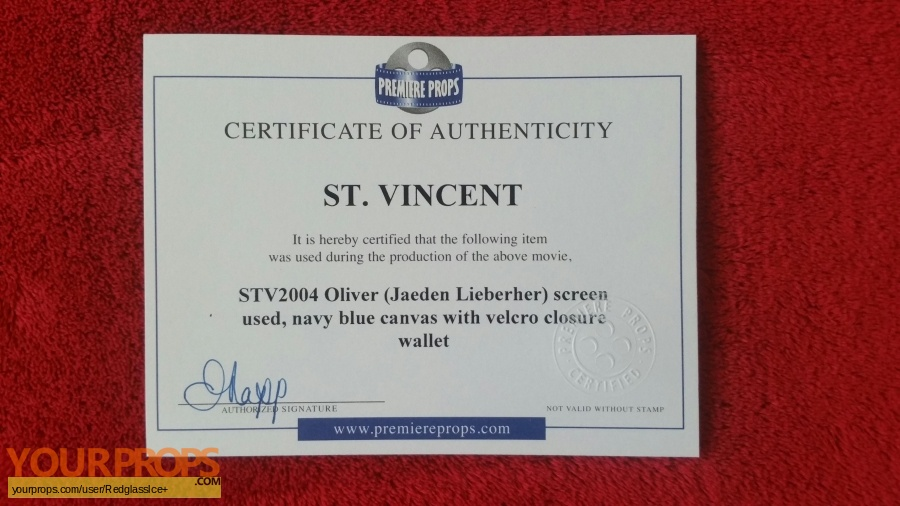St  Vincent original movie prop