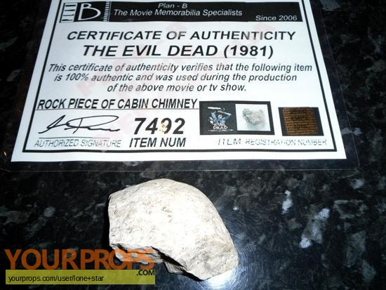The Evil Dead swatch   fragment movie prop