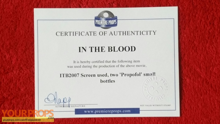 In the Blood original movie prop