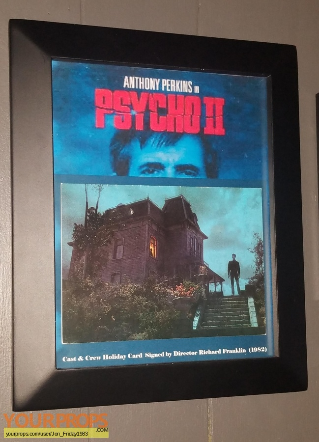 Psycho 2 original film-crew items