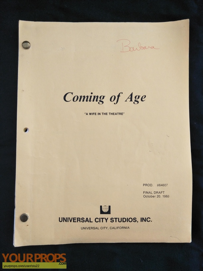 Coming Of Age original production material