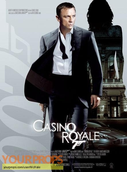 James Bond  Casino Royale replica movie prop