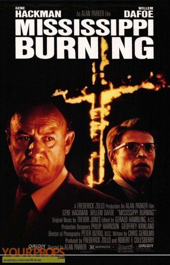Mississippi Burning replica movie prop