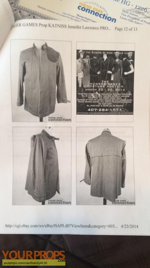 The Hunger Games swatch   fragment movie costume