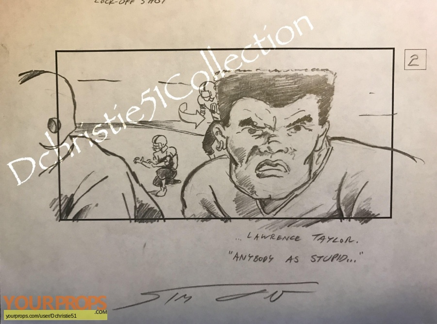 The Waterboy original production artwork
