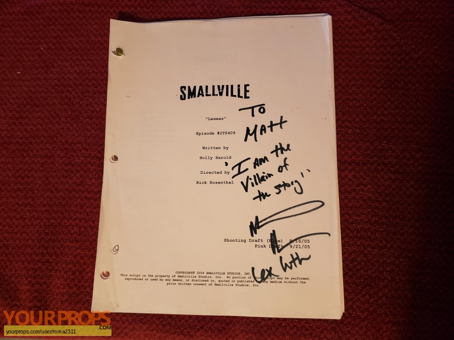 Smallville original movie prop