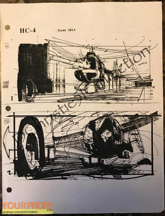Terminator 2  Judgment Day original production artwork