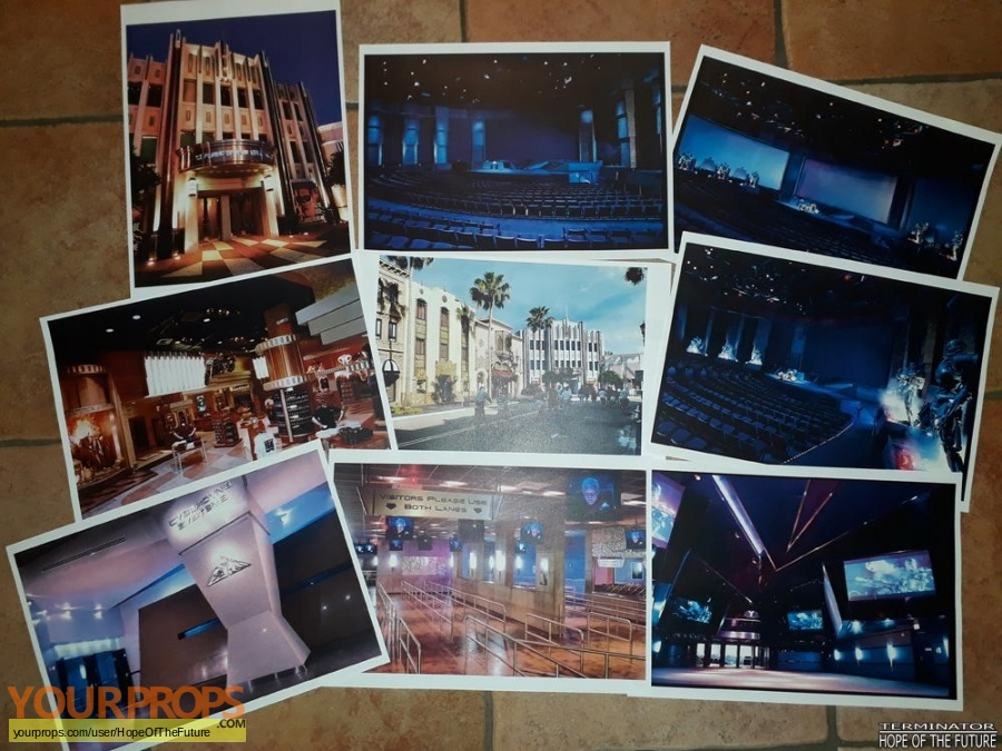 Terminator 2 3D  Battle Across Time replica production material