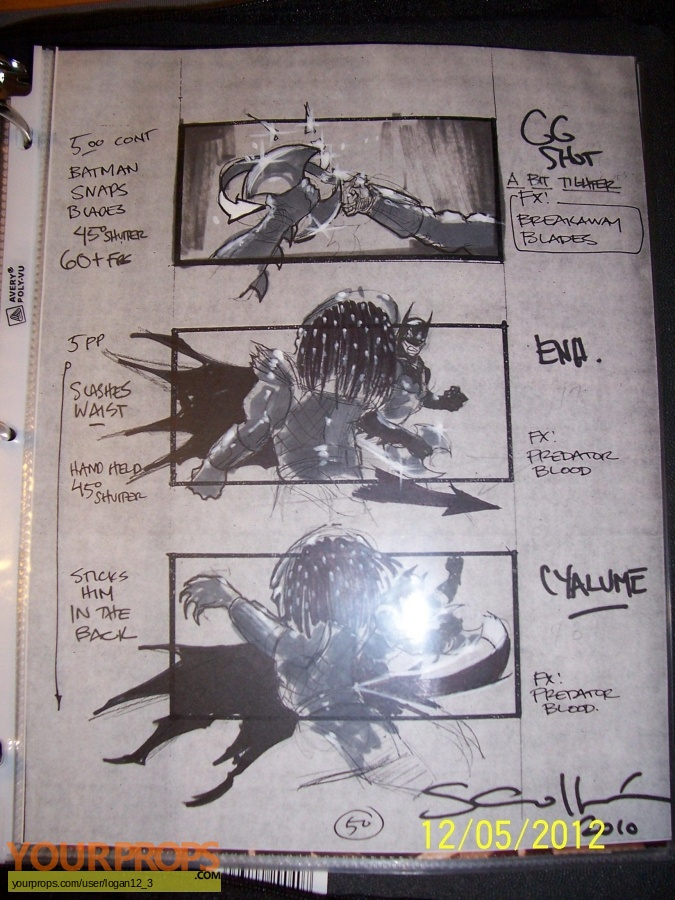 Batman  Dead End original production artwork