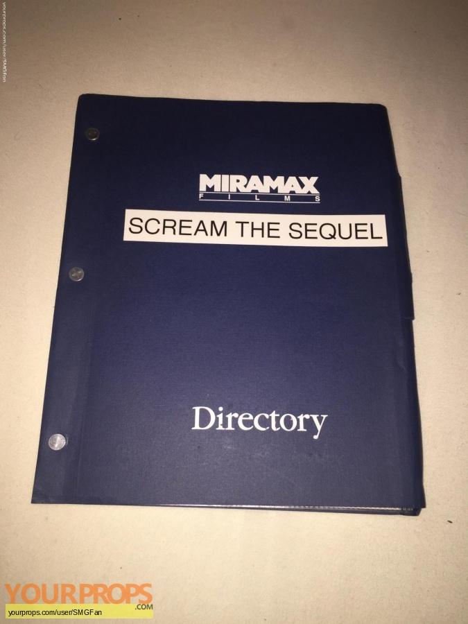 Scream 2 original production material