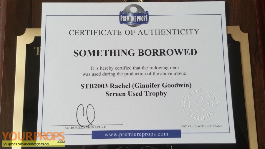 Something Borrowed original movie prop