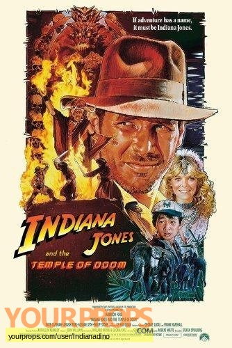 Indiana Jones And The Temple Of Doom original movie prop