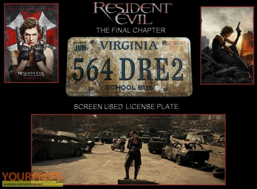 Resident Evil  The Final Chapter original set dressing   pieces