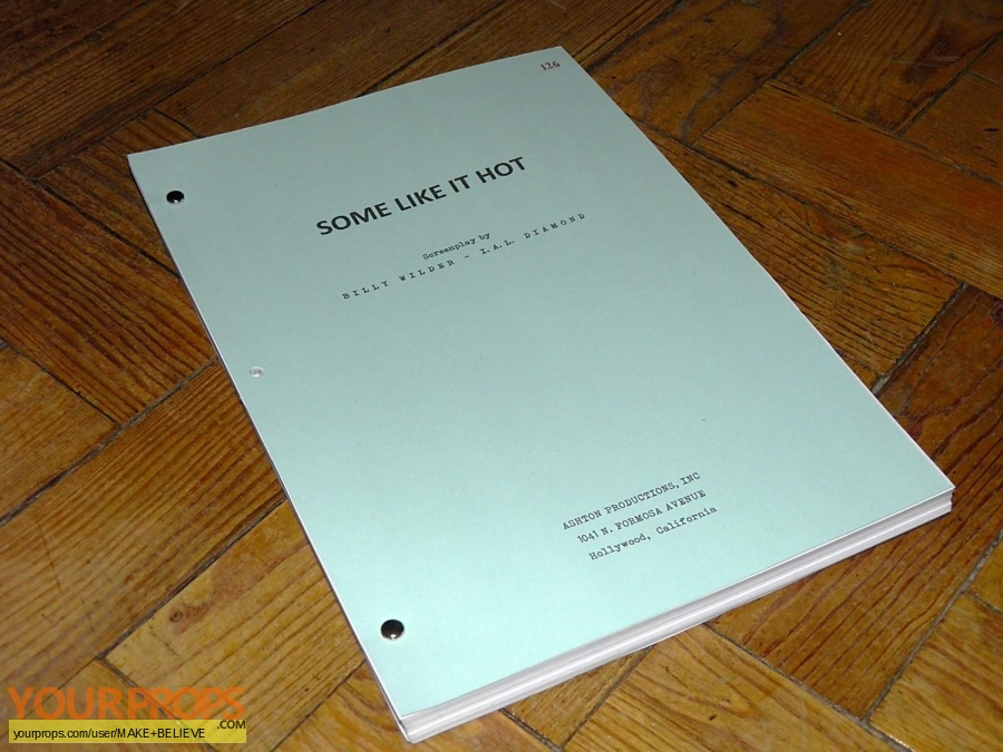 Some Like It Hot replica production material