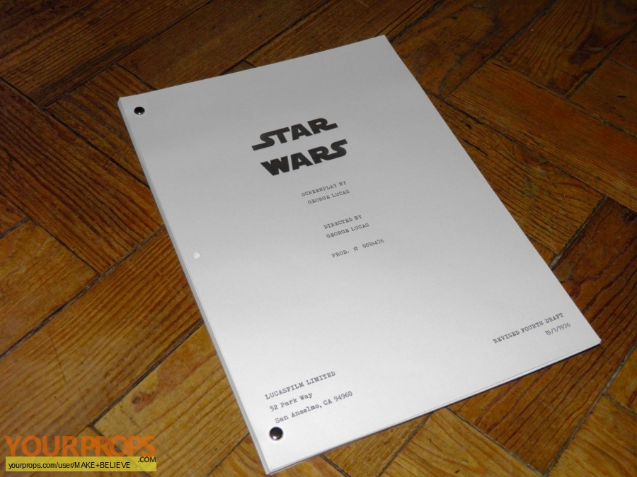 Star Wars  A New Hope replica production material