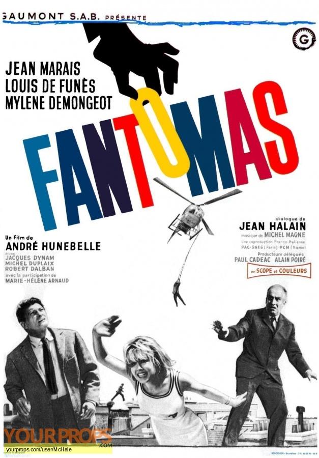 Fantomas replica movie prop