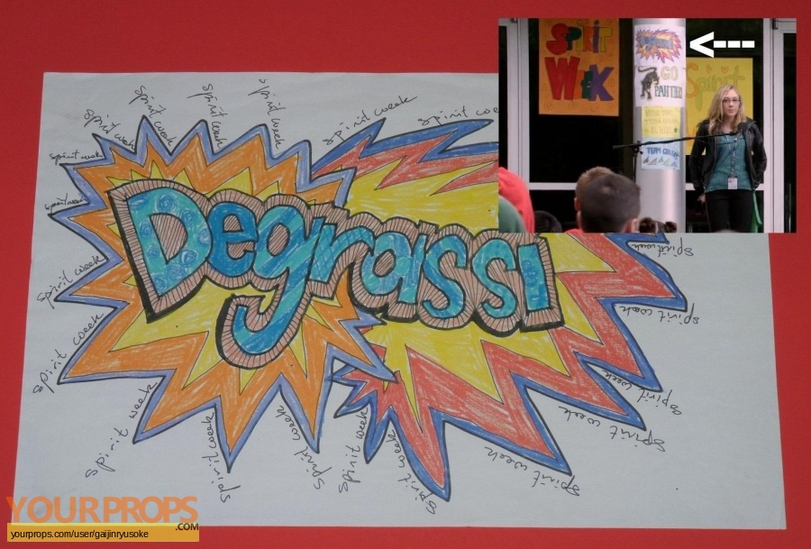 Degrassi  The Next Generation original set dressing   pieces