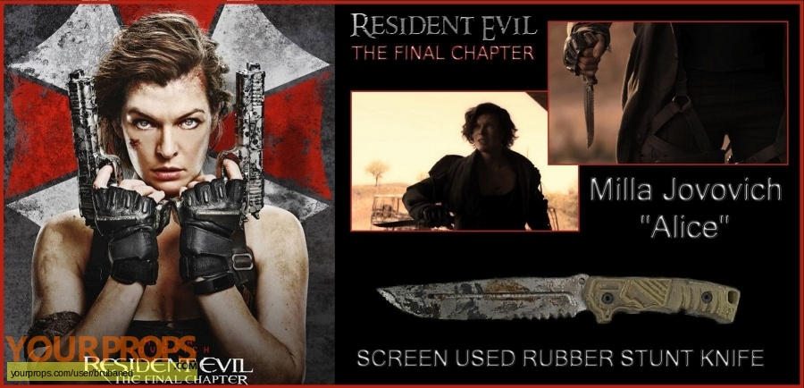 Resident Evil  The Final Chapter original movie prop weapon