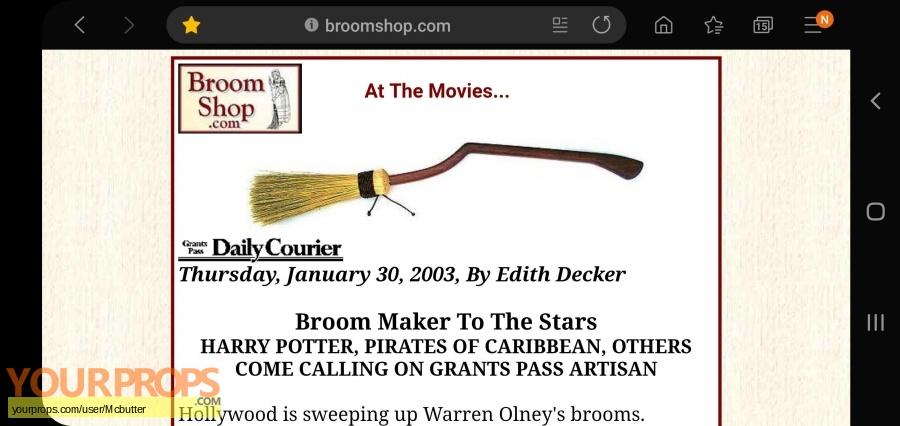 Harry Potter movies original film-crew items