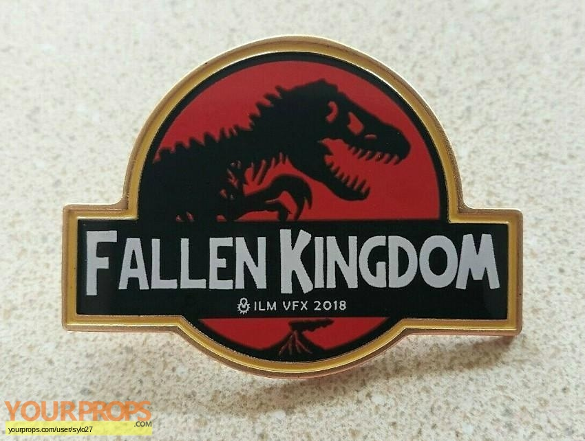 Jurassic World A Fallen Kingdom original film-crew items