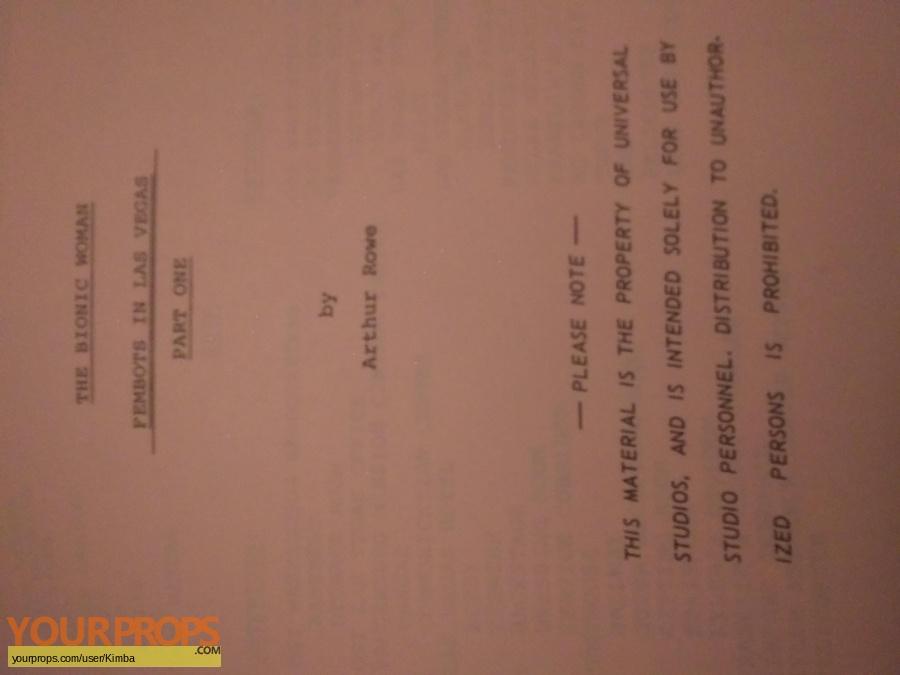 Bionic Woman TV 1977 original production material