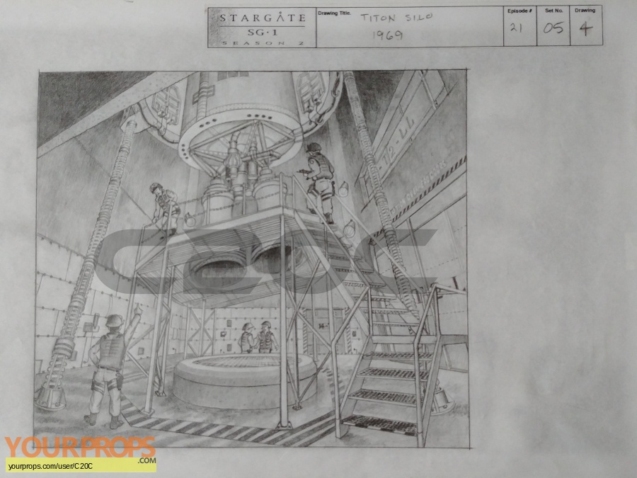 Stargate SG-1 original production artwork