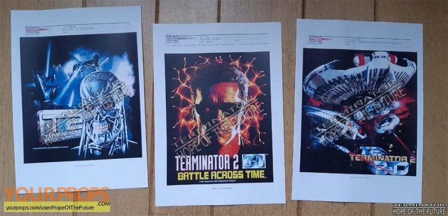 Terminator 2 3D  Battle Across Time original production artwork