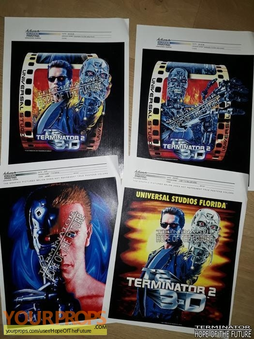 Terminator 3D  Battle Across Time original production artwork