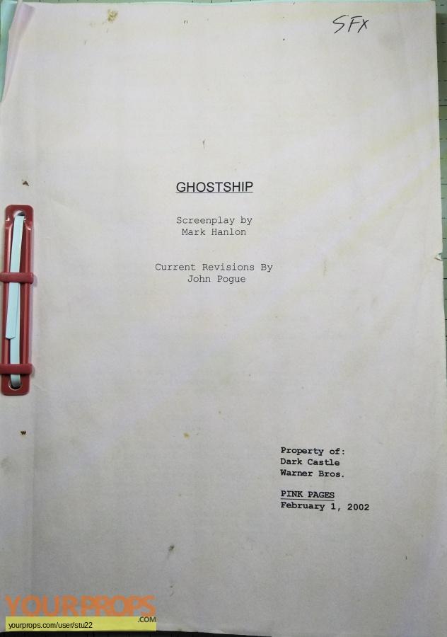 Ghost Ship original production material