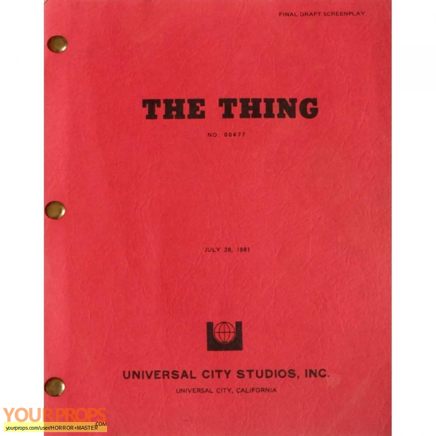 The Thing 1982 original movie prop