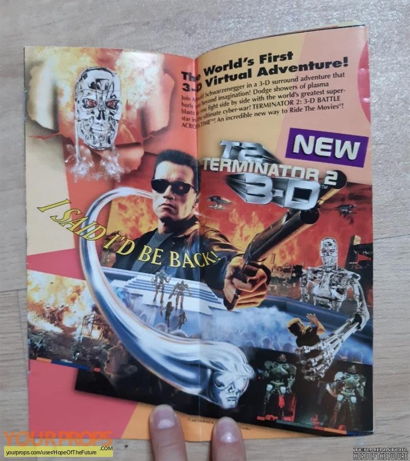 Terminator 2 3D  Battle Across Time original production material