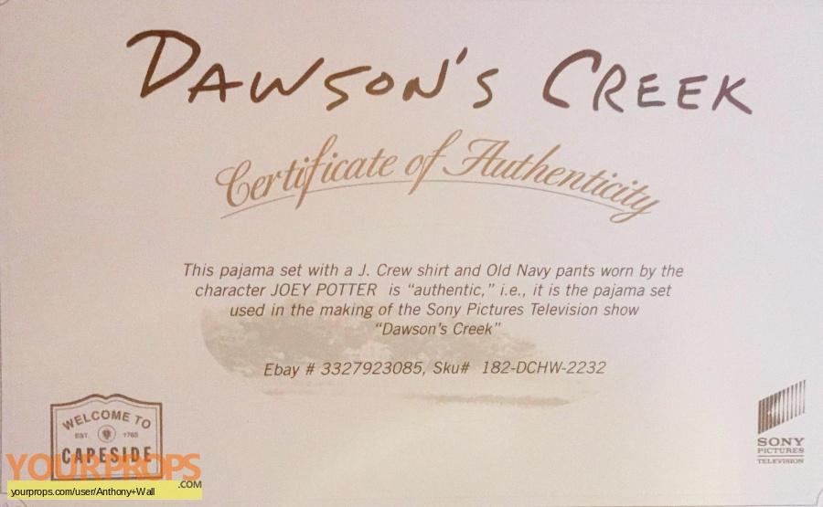 Dawson s Creek original movie costume