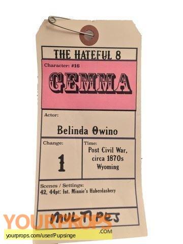 The Hateful Eight original movie costume