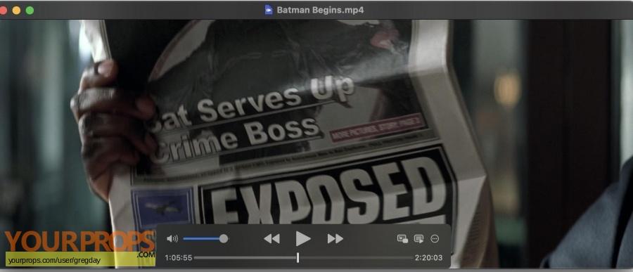 Batman Begins original movie prop