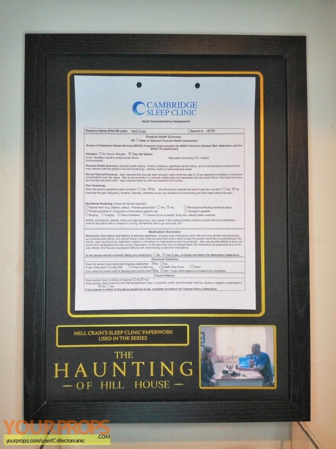 The Haunting of Hill House original movie prop