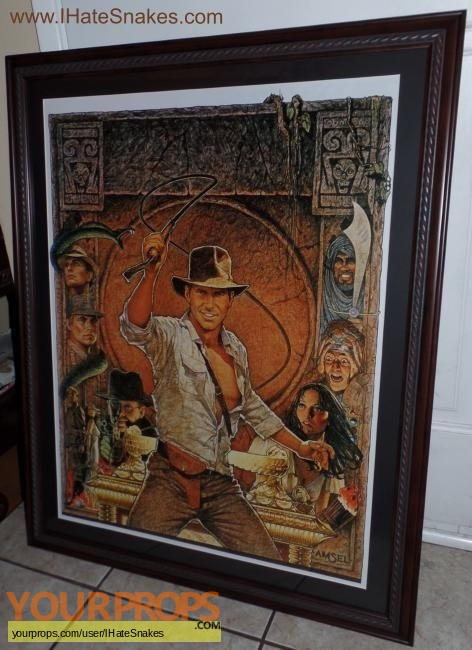 Indiana Jones And The Raiders Of The Lost Ark replica production artwork