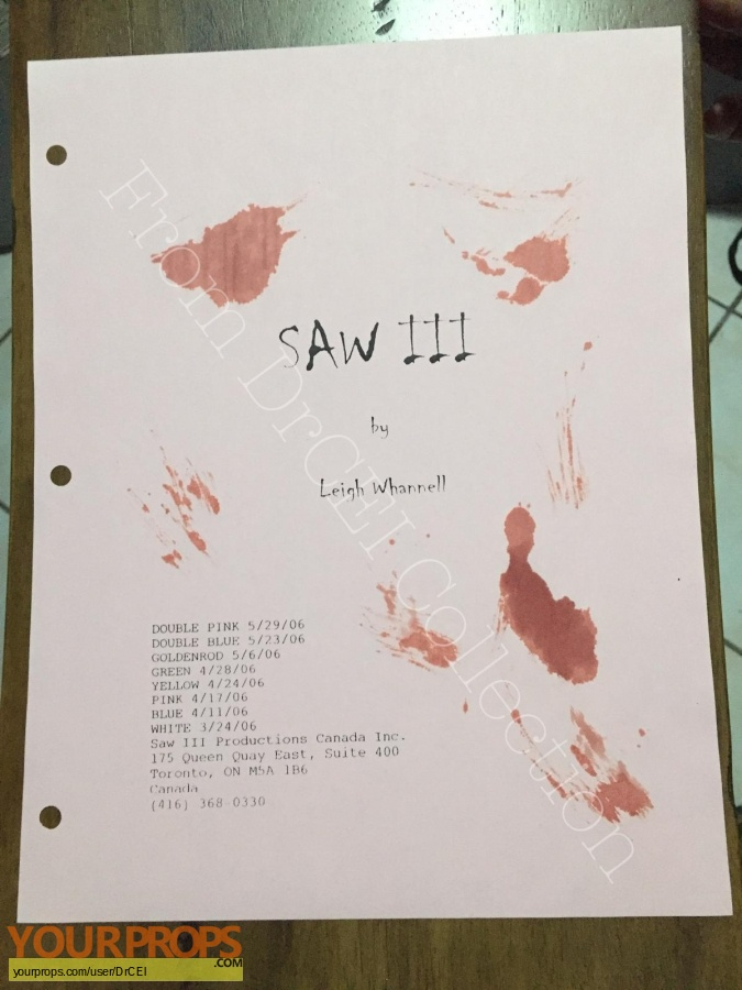 Saw 3 swatch   fragment production material