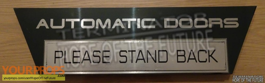 Terminator 2 3D  Battle Across Time original set dressing   pieces