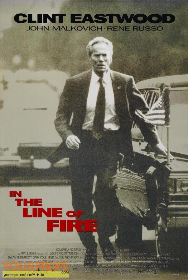 In the Line of Fire replica movie prop