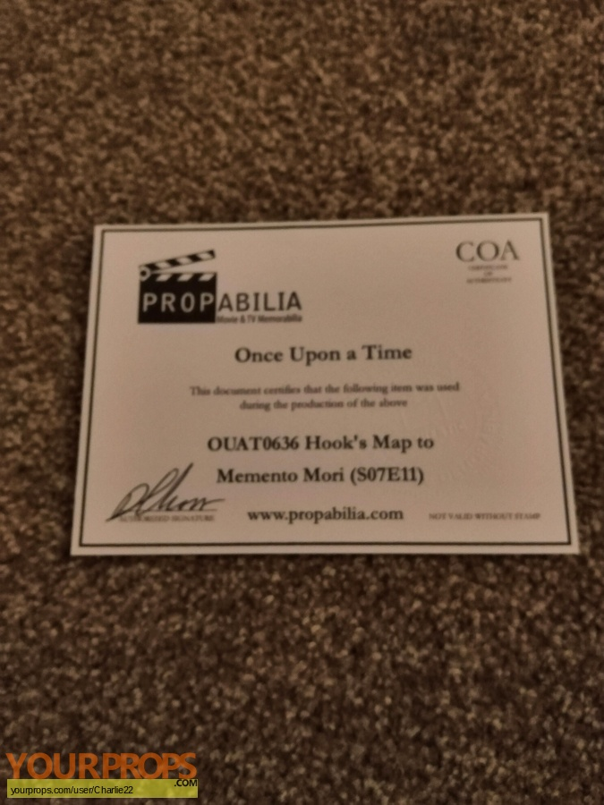 Once Upon a Time  (2011-2018) original movie prop