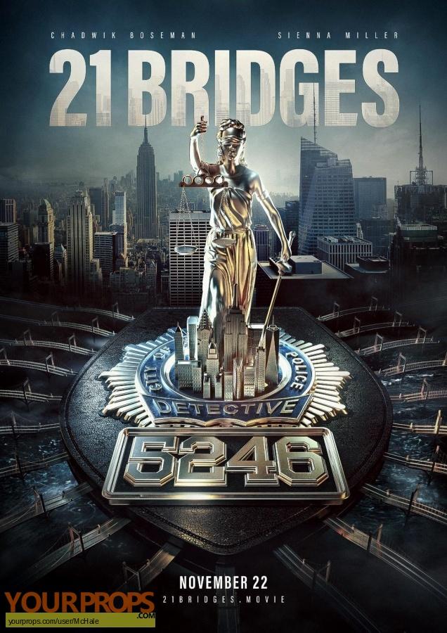 21 Bridges replica movie prop
