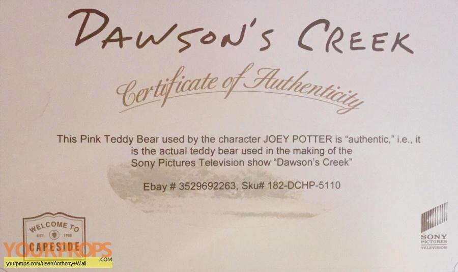 Dawson s Creek original movie prop