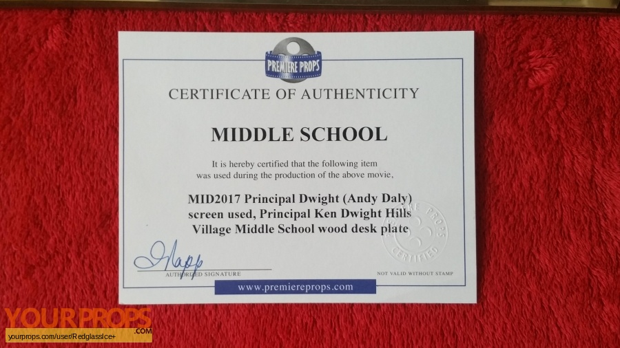 Middle school the worst years of my life original movie prop