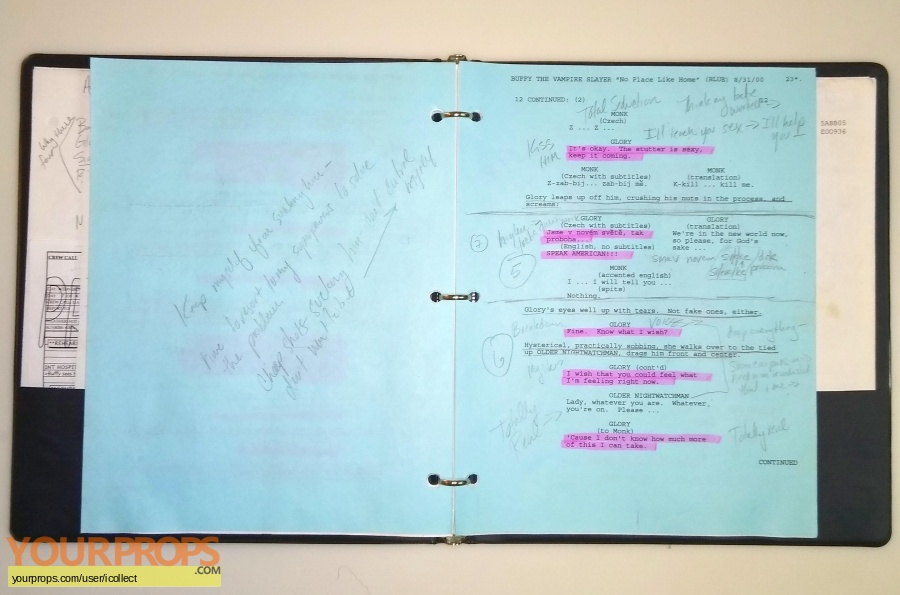 Buffy the Vampire Slayer original production material