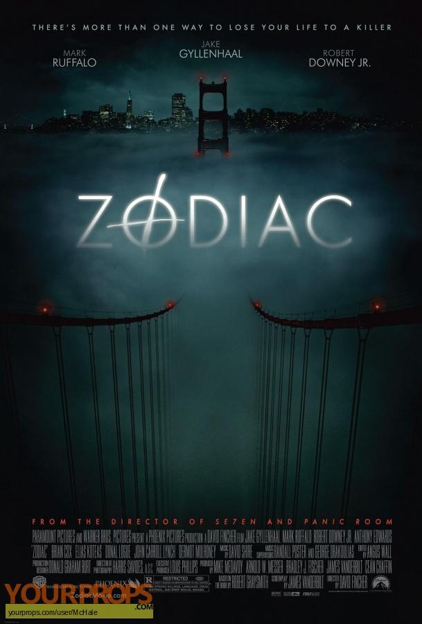 Zodiac original movie prop