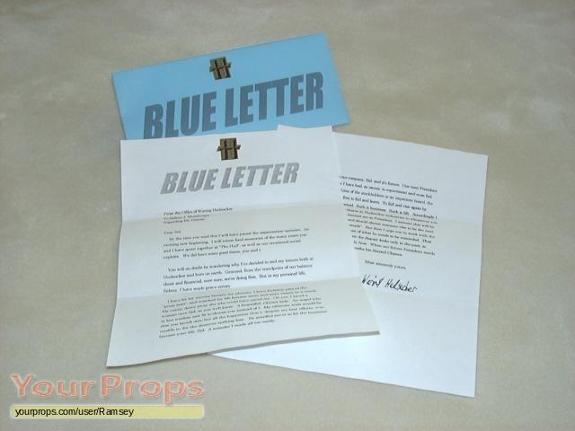 the hudsucker proxy blue letter replica movie prop
