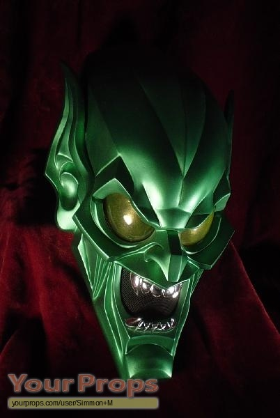 spider man green goblin helmet replica movie prop