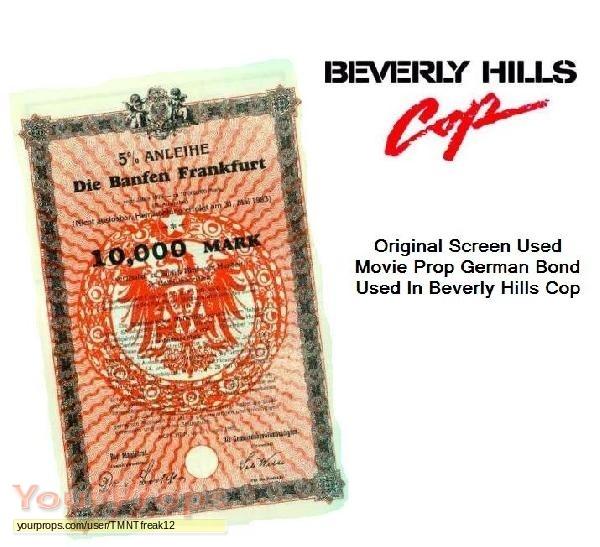 """/""""Beverly Hills Cop/"""" Movie Prop Bond"""