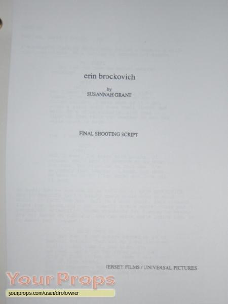 erin brockovich original studio script original prod material